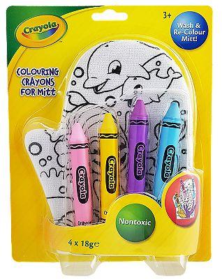 Crayola Colour In Washmitt & Bath Crayons