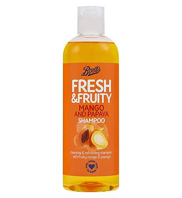 Image of Boots Fresh Mango & Papaya Shampoo 500ml