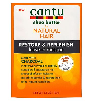 Cantu for Natural Hair Restore & Replenish Leave-in Masque with Charcoal 42g