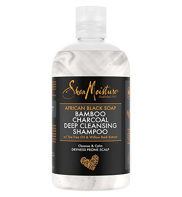 Shea Moisture African Black Soap Bamboo Charcoal Shampoo 384ml