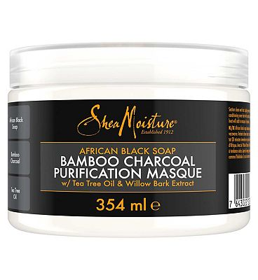 Shea Moisture African Black Soap Bamboo Charcoal Masque 354ml