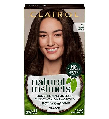 Clairol Natural Instincts Semi Permanent Hair Dye 5 Hazelnut 177g