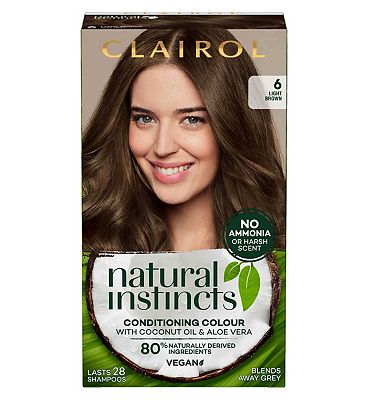 Clairol Natural Instincts Semi Permanent Hair Dye 6 Walnut 177g