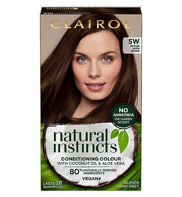 Clairol Natural Instincts Semi Permanent Hair Dye 5w Cinnamon Stick 177g
