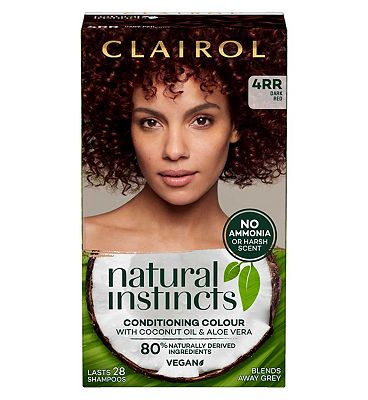Clairol Natural Instincts Semi Permanent Hair Dye 4rr Malaysian Cherry 177g