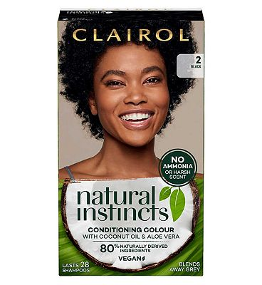 Clairol Natural Instincts Semi Permanent Hair Dye 2 Midnight 177g