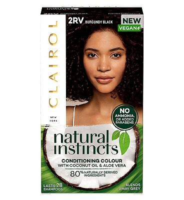 Clairol Natural Instincts Semi Permanent Hair Dye 2rv Burgundy Black 177g