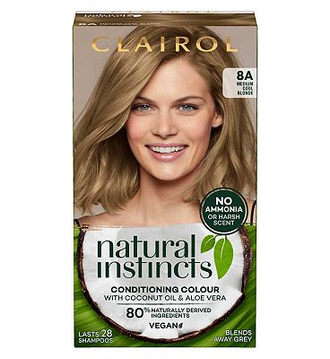 Clairol Natural Instincts Semi Permanent Hair Dye 8a California Beach 177g