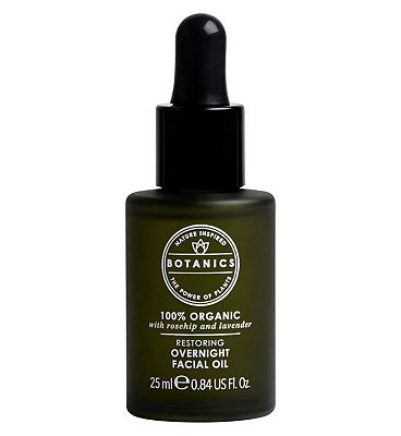 Botanics 100% Organic Restoring Overnight Facial Oil, 25ml