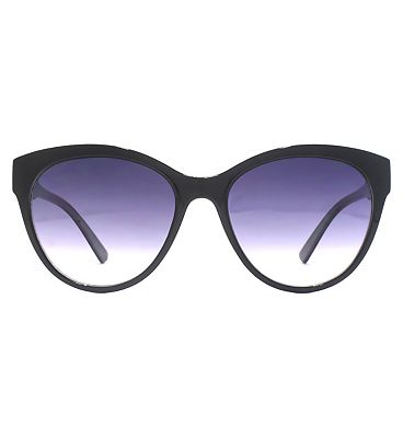 French Connection Women's Sunglasses - Shiny Black and Milky Grey Frame