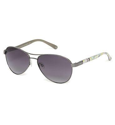 Joules Womens Cowes Sunglasses Matt Gun