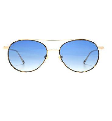 Nine West Sunglasses Metal Round Double Bridge Ladies