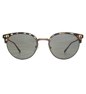 Nine West Sunglasses Icon Cat-Eye Metal Plastic Combo Ladies