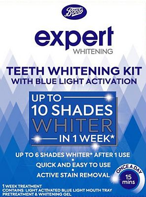 Boots Expert Teeth Whitening Kit with Blue Light Activation