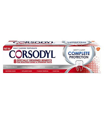 Corsodyl Complete Protection Toothpaste Whitening 75ml