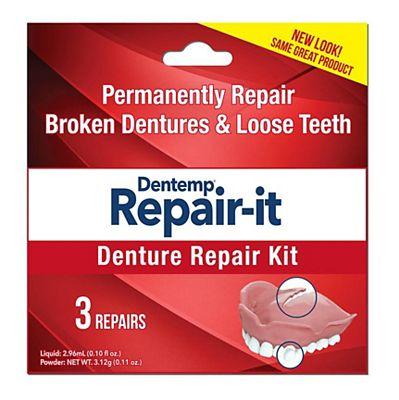 Dentemp Repair It Denture Repair Kit 3s