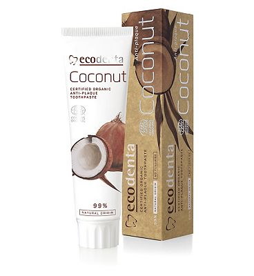 Ecodenta Cosmos Organic Anti-Plaque Toothpaste With Coconut Oil And Zinc Salt 100ml