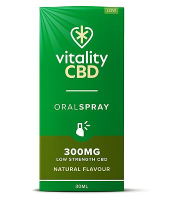Vitality CBD 30ml Oral Spray 300MG Low Strength CBD Natural Flavour