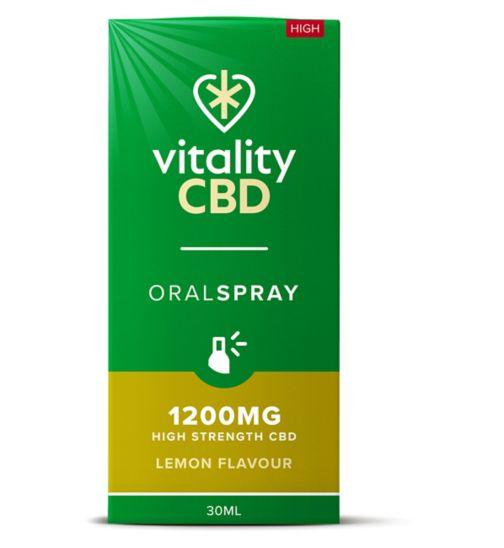 Vitality CBD 30ml Oral Spray 1200MG High Strength CBD Lemon Flavour