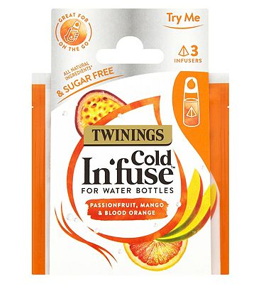 Twinings Cold In'fuse for Water Bottles Passionfruit Mango & Orange - 3 Infusers