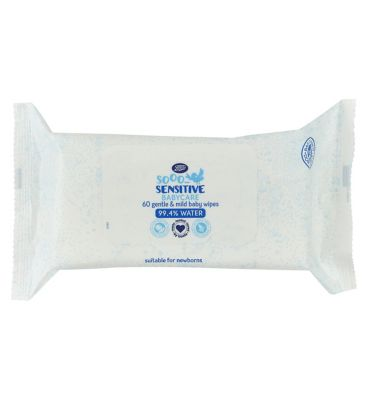 Boots Sooo Sensitive Baby Wipes, Single Pack = 60 Wipes by Boots