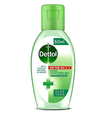 Dettol On The Go Antibacterial Hand Gel Aloe Vera 50ml