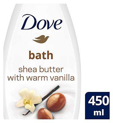Dove Bath Shea Butter 450ml