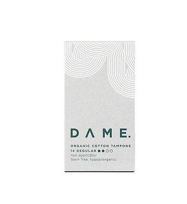 DAME Organic Non-applicator Regular Tampons 14ct
