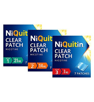 NiQuitin Patches 10 Week Bundle - Steps 1, 2 & 3