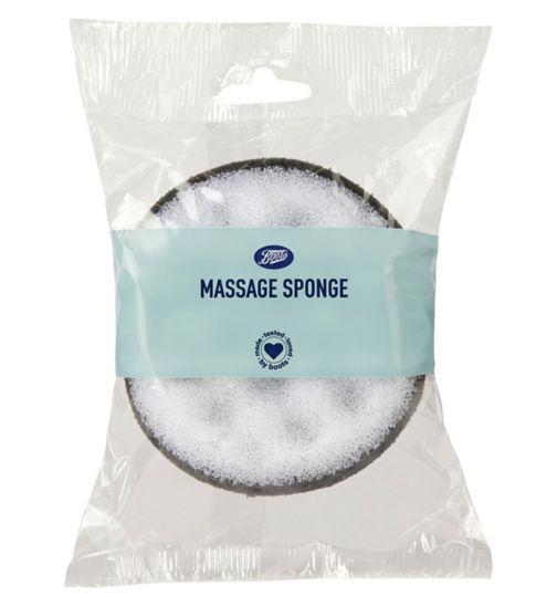 Boots Massage Sponge Charcoal