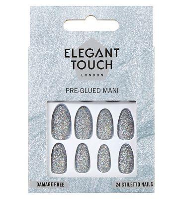 Perfect 10 Pre-Glued False Nails Diamond Girl