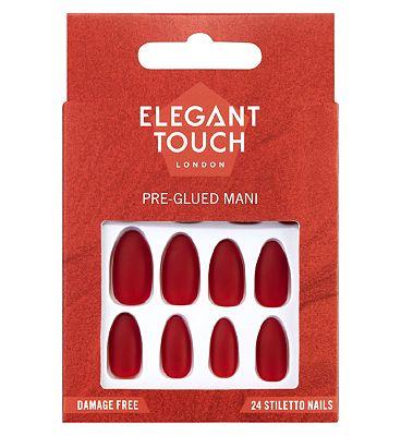 Perfect 10 Pre-Glued False Nails Hot Date