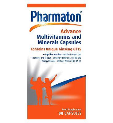 Pharmaton Advance Multivitamins and Minerals 30 Capsules