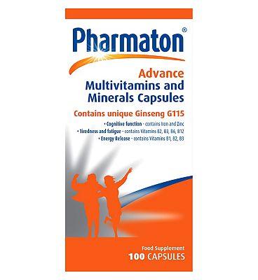 Pharmaton Advance Multivitamins and Minerals 100 Capsules