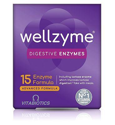 Vitabiotics Wellzyme Digestive Enzymes 15 Enzyme Advanced Formula - 60 Capsules