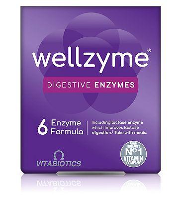 Vitabiotics Wellzyme Digestive Enzymes 6 Enzyme Formula - 60 Capsules