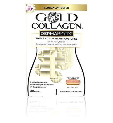 Gold Collagen Dermabiotix Age 20+ 30 Tablets