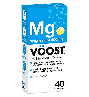 Voost Magnesium 200 mg 40 Lemon Efferevescent Tablets