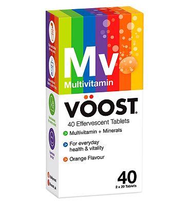 Voost Multivitamin 40 Orange Effervescent Tablets