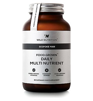 Wild Nutrition Bespoke Man Food-Grown Daily Multi Nutrient - 60 Capsules