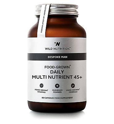 Wild Nutrition Bespoke Man Food-Grown Daily Multi Nutrient 45+ - 60 Capsules