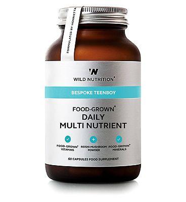 Wild Nutrition Bespoke Teenboy Food Grown Daily Multi Nutrient 60 Capsules