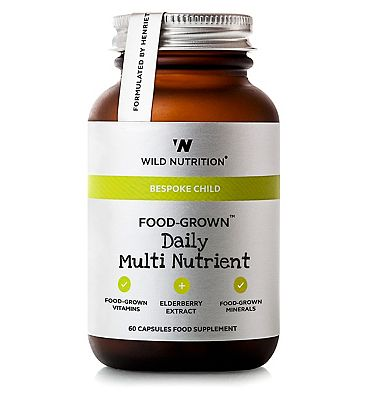 Wild Nutrition Bespoke Child Food Grown Daily Multi Nutrient 60 Capsules