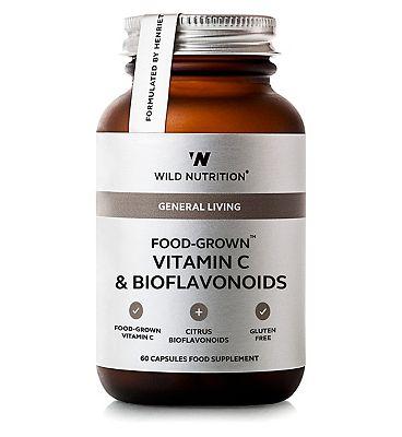 Wild Nutrition General Living Food Grown Vitamin C & Bioflavonoids 60 Capsules