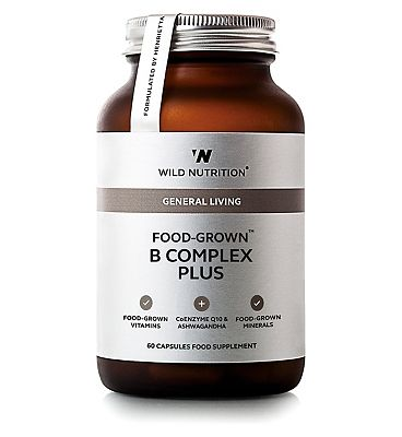Wild Nutrition General Living Food Grown B Complex Plus 60 Capsules