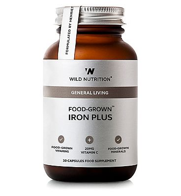 Wild Nutrition General Living Food Grown Iron Plus 30 Capsules