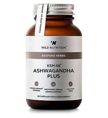 Wild Nutrition Bespoke Herbs KSM-66 Ashwagandha Plus - 60 Capsules