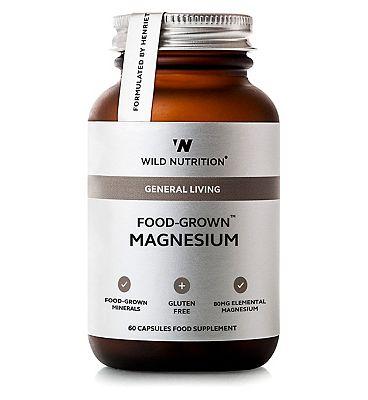 Wild Nutrition General Living Food-Grown Magnesium - 60 capsules
