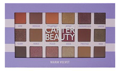Carter Beauty 18 Shade Warm Velvet Eyeshadow Palette