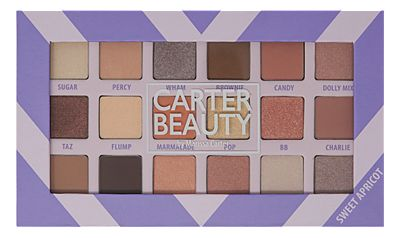 Carter Beauty 18 Shade Sweet Apricot Eyeshadow Palette